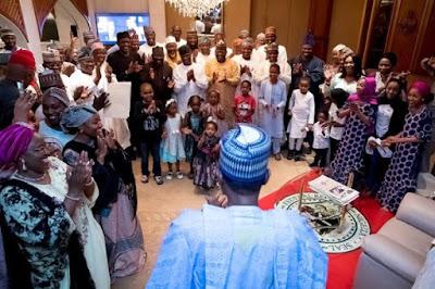 buhari9 - 9JA NEWS: #PMBAt75: Governors, Saraki, Dogara, Tinubu, Well-wishers surprise Buhari on his 75th Birthday
