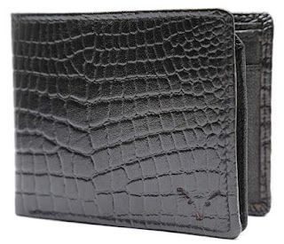 Hidekraft Black Leather Wallets for Men