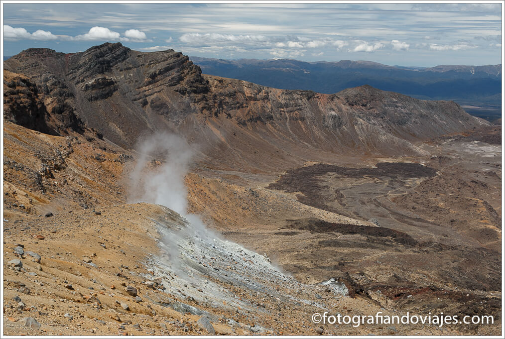 Vista desde Emerald pools en Tongariro Alpine Crossing