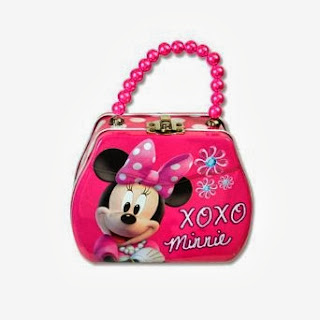 Disney Minnie Bowtique Purse Shaped Tin Box With Beaded Handle