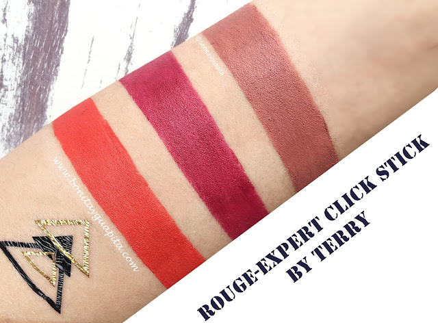 Rouge Expert Click Stick de by terry swatches