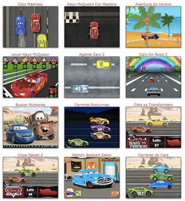 Nuevos juegos de carreras de Cars 3