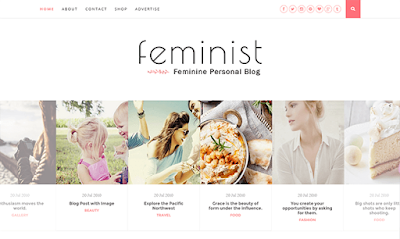 Feminist Clean & Responve Blogger Template
