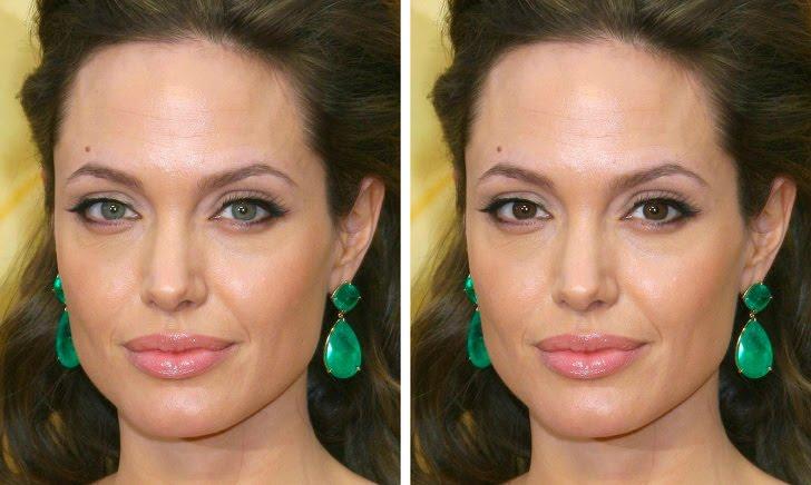 Angelina Jolie أنجلينا جولي - قامت بتغيير لون عينها
