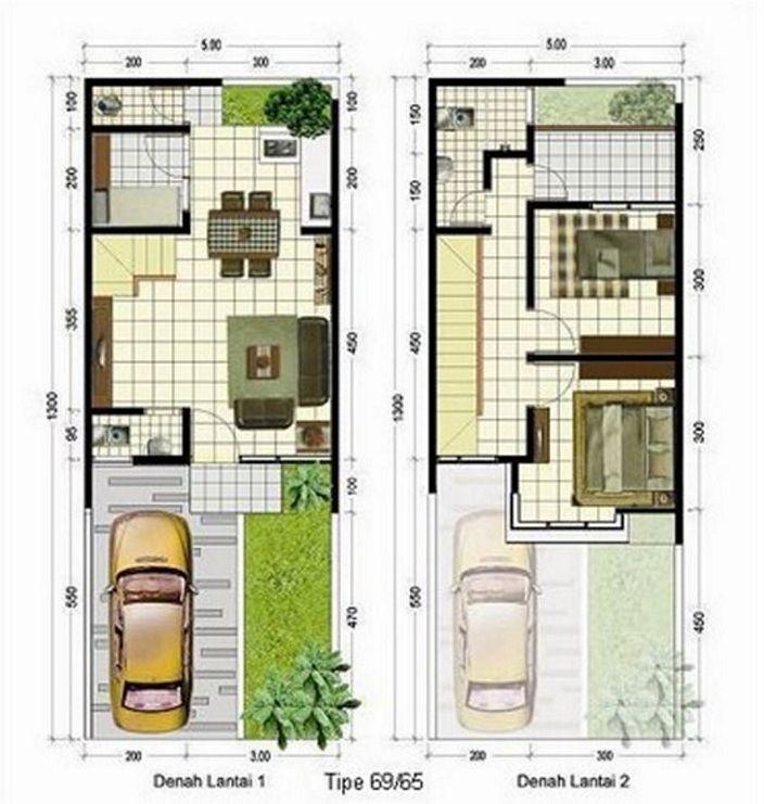 denah rumah lantai 2 minimalis yang bagus