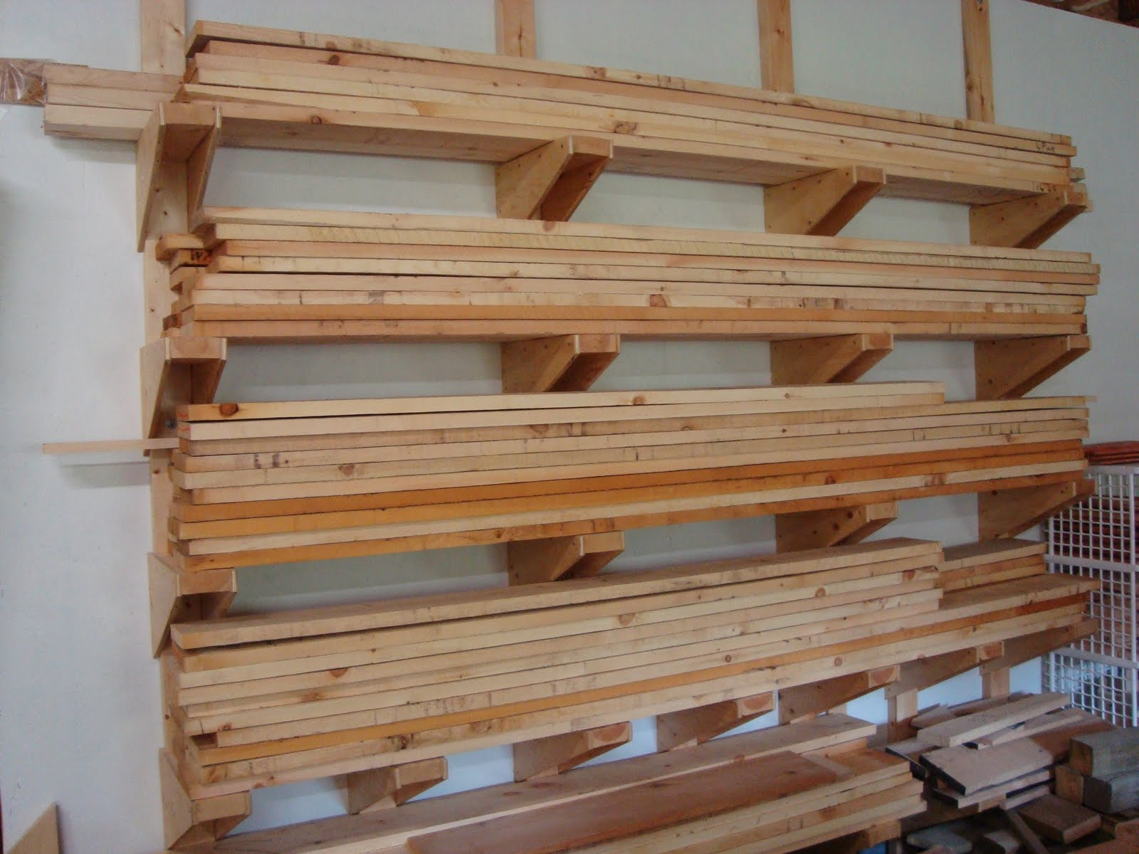 Things To Put On Shelves Follow Your Heart Woodworking Lumber Rack In Place