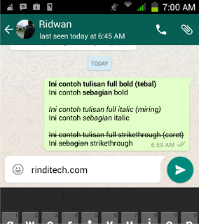 How to Make Bold, Italic, Strikeout and Even Combination in WhatsApp Chat