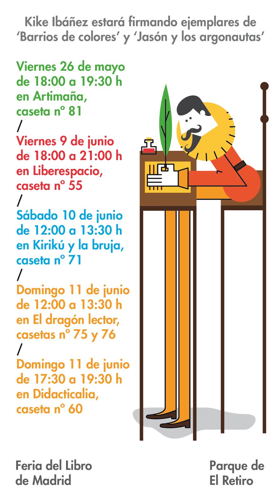 Kike ib ez feria del libro de madrid 2017 for Feria del mueble madrid 2017