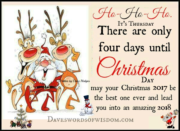 there are only four days until christmas day may your christmas 2017 be the best one ever and lead you into an amazing 2018