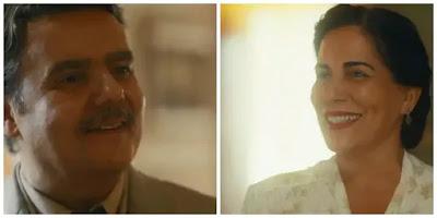 Afonso (Cássio Gabus Mendes) fica encantado com beleza de Lola (Gloria Pires)
