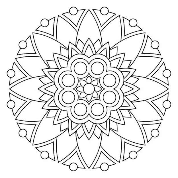 Free Printable Mandala Coloring Pages Coloring Mandalas Maybe Even  Drawing Them By Yourself First Is Very Fine Mindful Exercise And Its  Fun Too