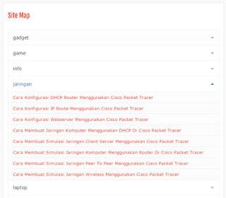 Membuat Sitemap/Daftar Isi Blog Keren 2016 Dijamin Work