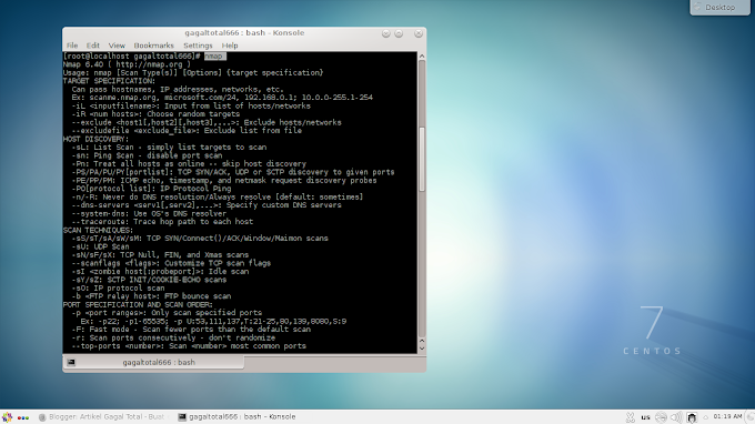 Cara Menginstall Nmap di Centos 7 GNU/Linux