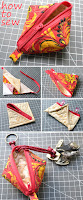 How to Make Triangle Zipper Pouches. DIY Sewing Tutorial.