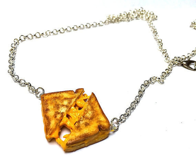 A Grilled Cheese Necklace