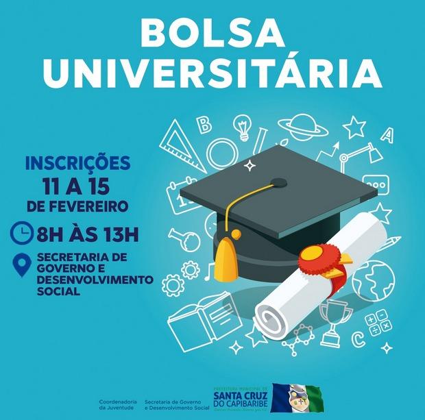 Prefeitura de Santa Cruz do Capibaribe lança edital do Bolsa Universitária 2019.1