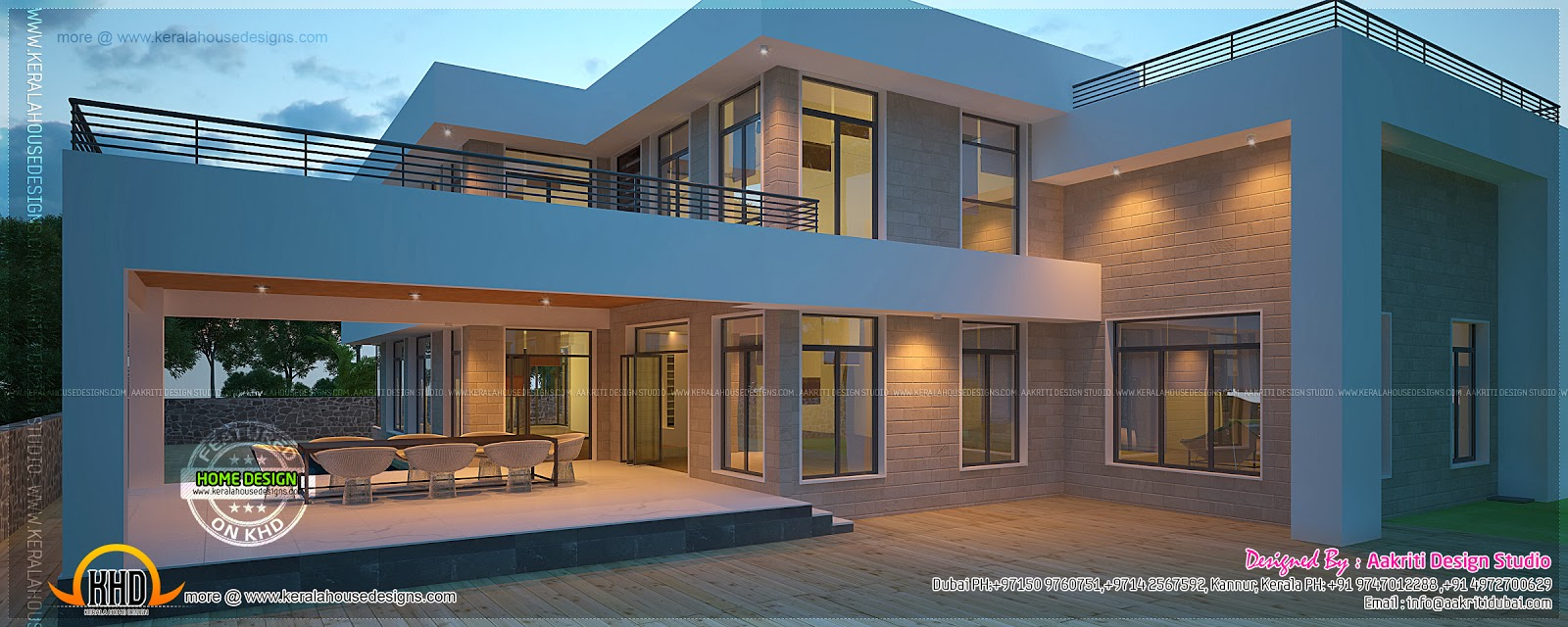 New Modern Villa Exterior Kerala Home Design And Floor Plans