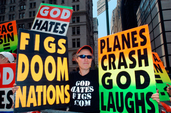 God Hates Figs Protestors Signs