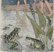 Dongeng Anak-anak dan katak di kolam