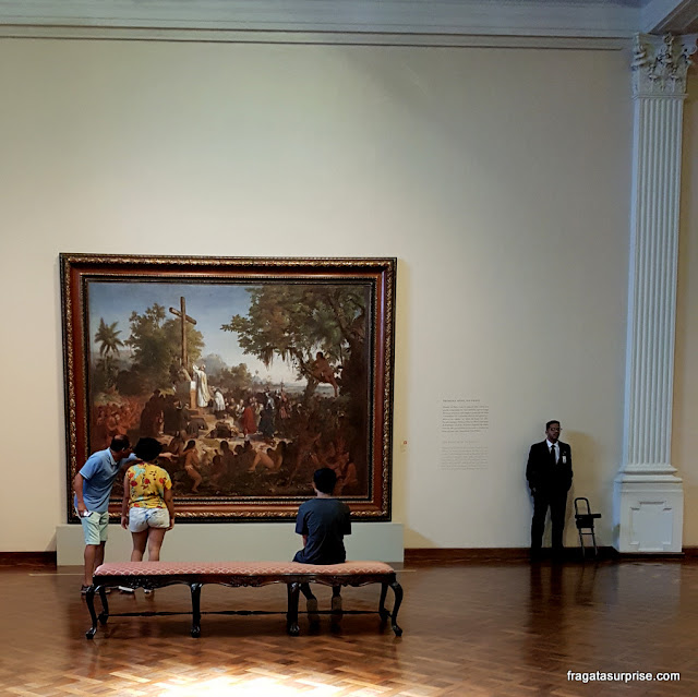 A Primeira Missa no Brasil, tela de Victor Meirelles (Século 19), no Museu Nacional de Belas Artes