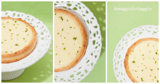 Crostata al limone e basilico