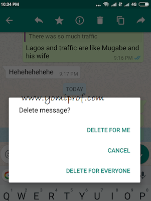 this delete messages you've sent to whatsapp