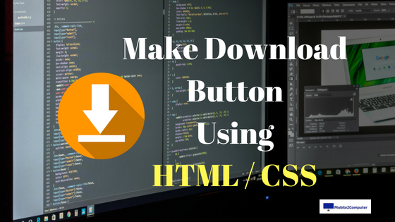 Making Download button for website using CSS