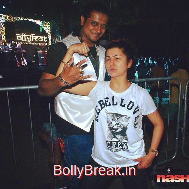 with hard kaur @ bollyfest2015 and album launch bollywood bounce ,.0 d jn ash sg , hard kaur , bolly fest , wave house , sent os a ,, Hard Kaur Hot Pics From Party