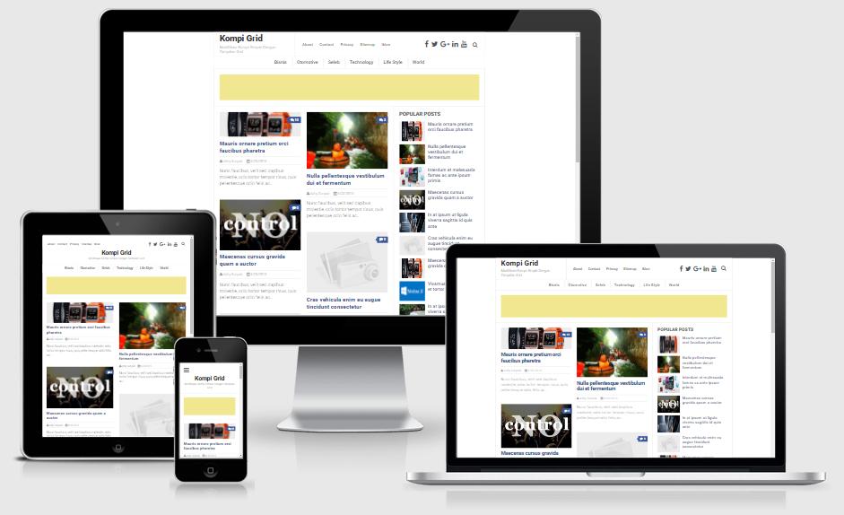 Kompi Grid Responsive Blogger Template