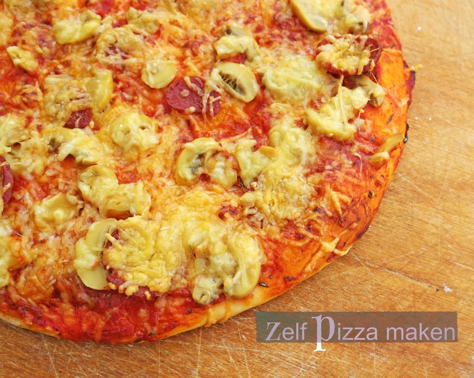 Zelf pizza maken - Uitleg