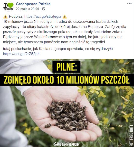 Greenpeace pszczoły
