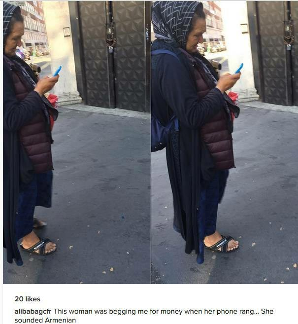 Mixed reactions as Ali Baba shares photo of beggar he met in London