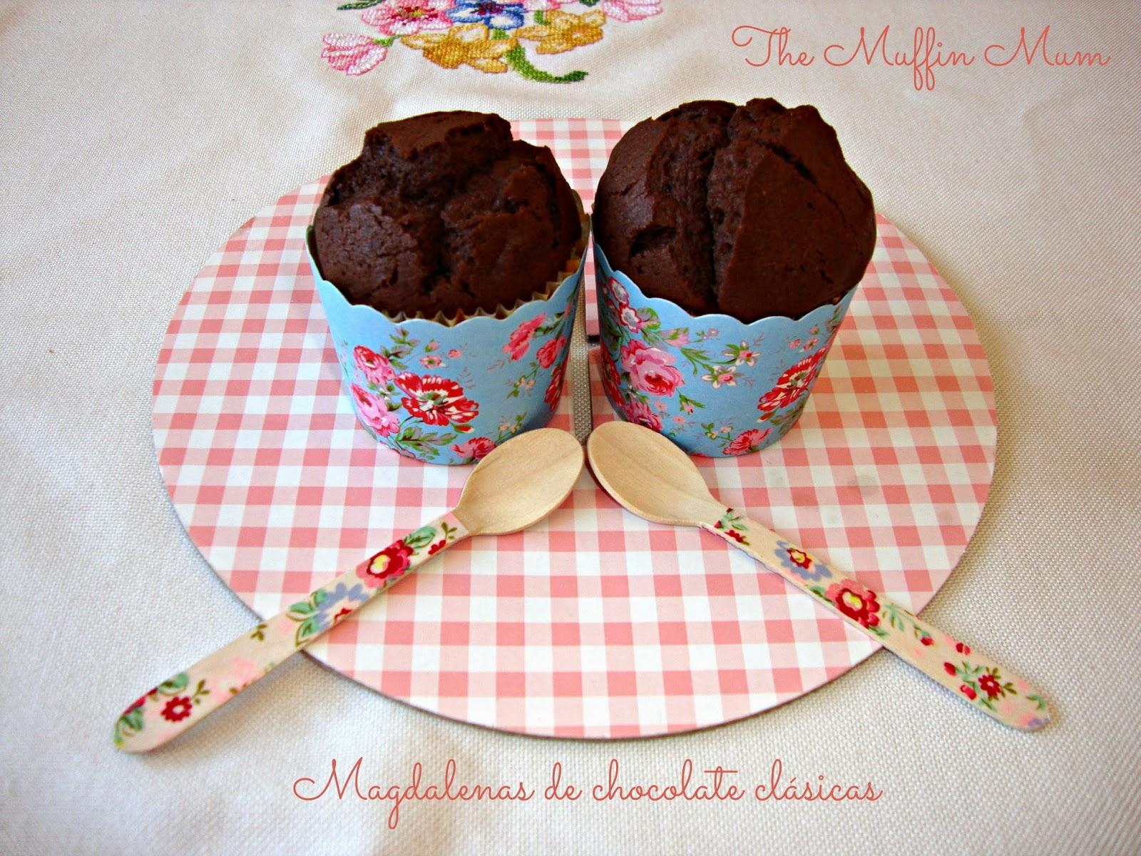 Magdalenas de chocolate clásicas