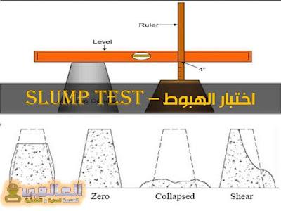 شرح اختبار الهبوط slump test
