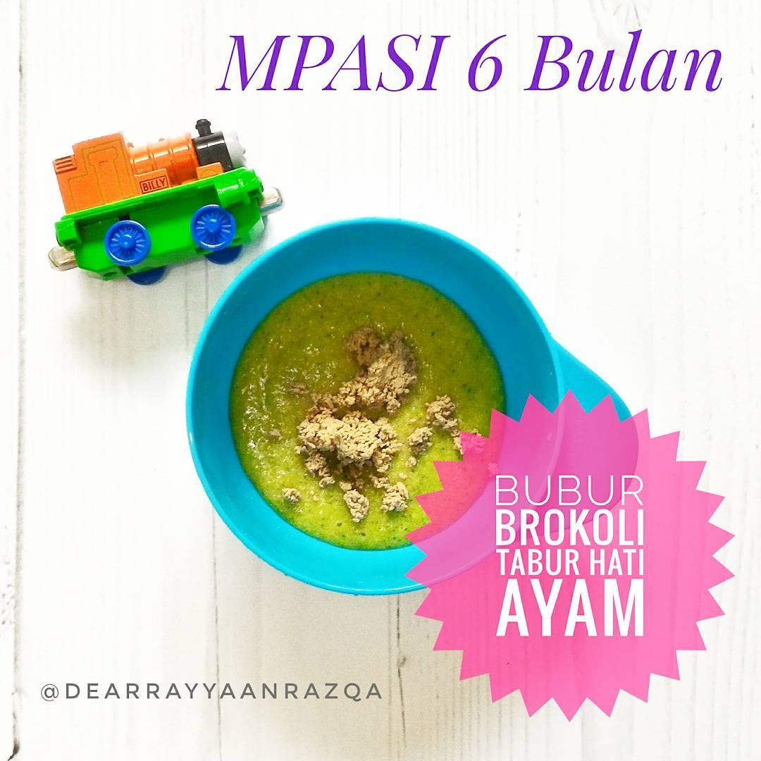 Resep Mpasi 6 Bulan Menu Hari 15 Bubur Brokoli Tabur Hati Heni Homemade Baby Food Maker Pembuat Makan Saring Bayi Sajikan Dengan Taburan Ayam Dan Tambahan 1 Sendok Evoo