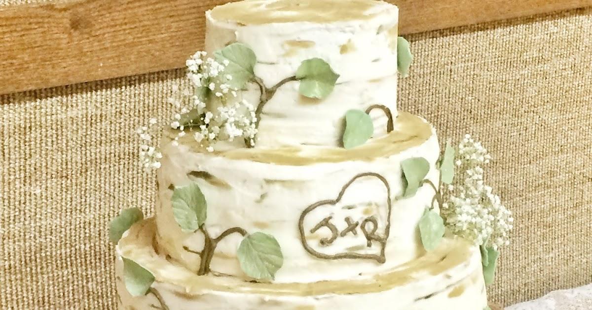 The Cake Cottage: Birch Tree Wedding Cake
