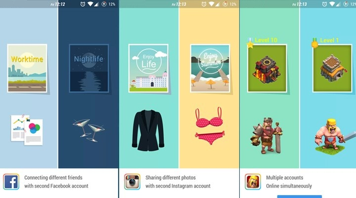 Parallel Space - Android App for Using Multiple Social/Game Account