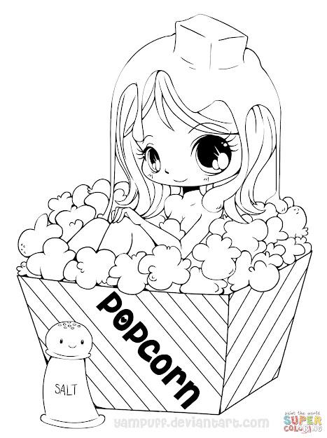 Chibi Popcorn Girl