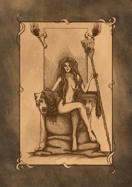 Proserpina, uno de los personajes de Las Cinco Maldades