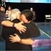 Pablo Iglesias y Julio Anguita. Lágrimas y emoción
