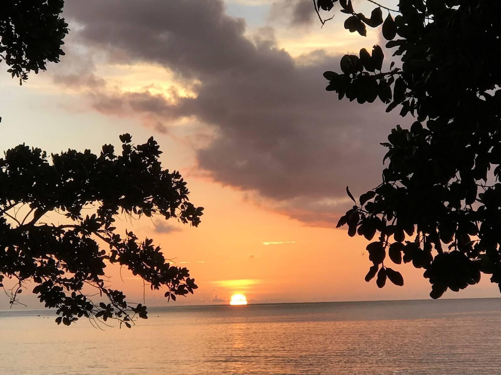 Sunset at Beau Vallon Beach