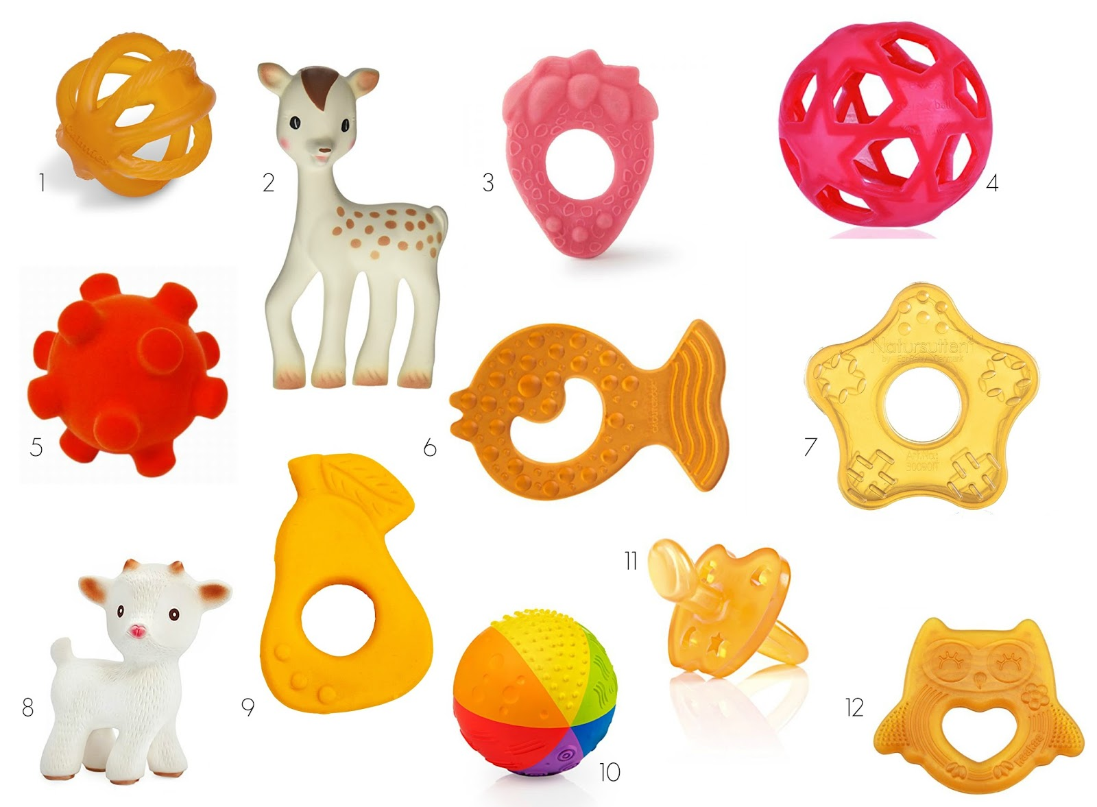 Natural Rubber Baby Toys
