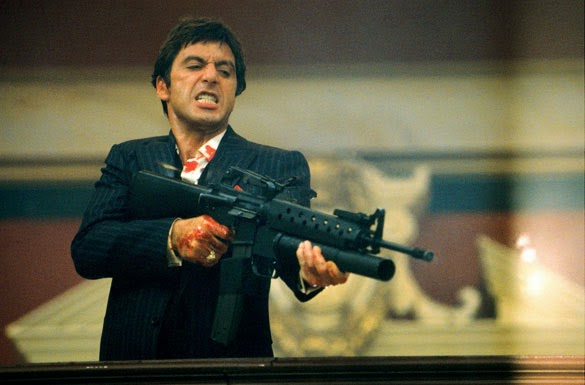 Al Pacino as Tony Montana, in Scarface, Directed by Brian de Palma