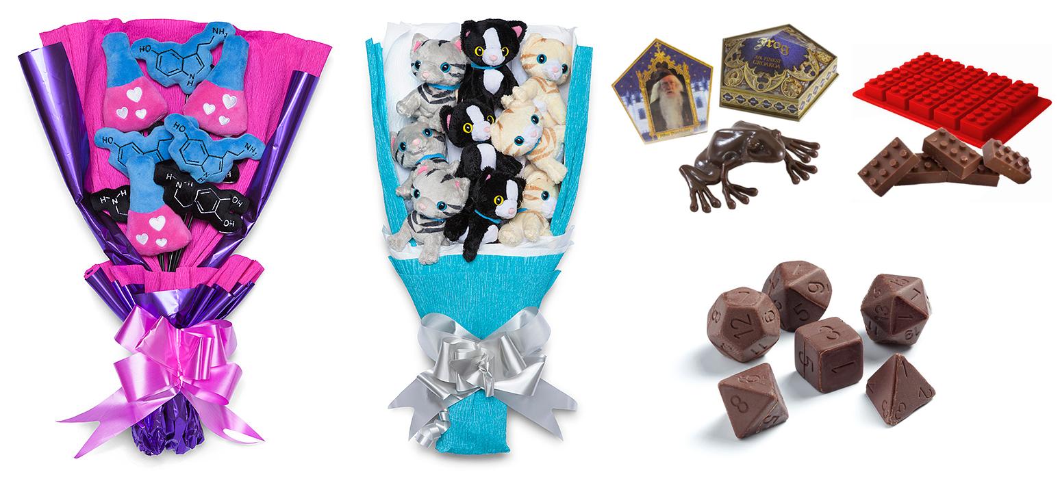 czekoladki, star wars, harry potter, pluszowe bukiety, prezenty na walentynki