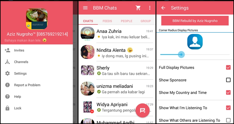 BBM Mod Official 2.9.0.51 Material Pink - oomblues