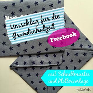 Titelbild Freebook Umschlag nähen von malamü