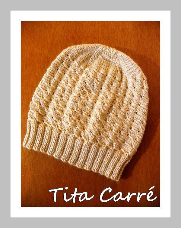 f053ed127b Tita Carré Agulha e Tricot : Gorro com ponto furinho em tricot