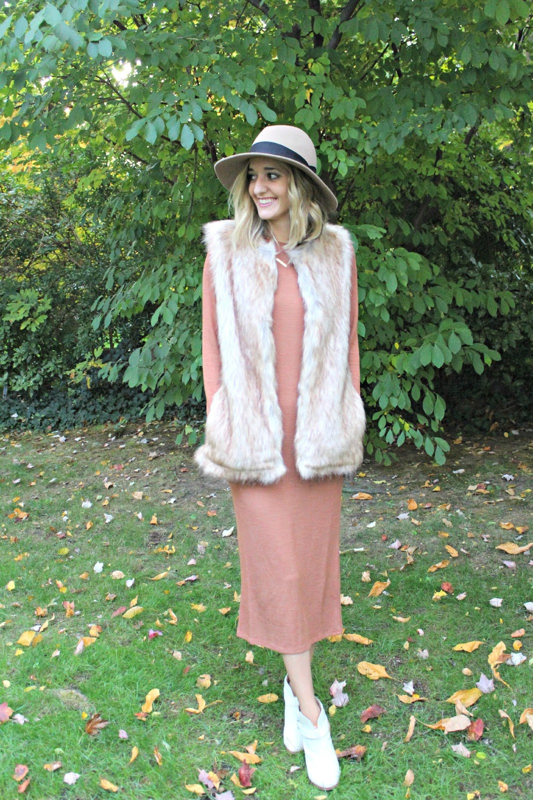 fall midi dress outfit