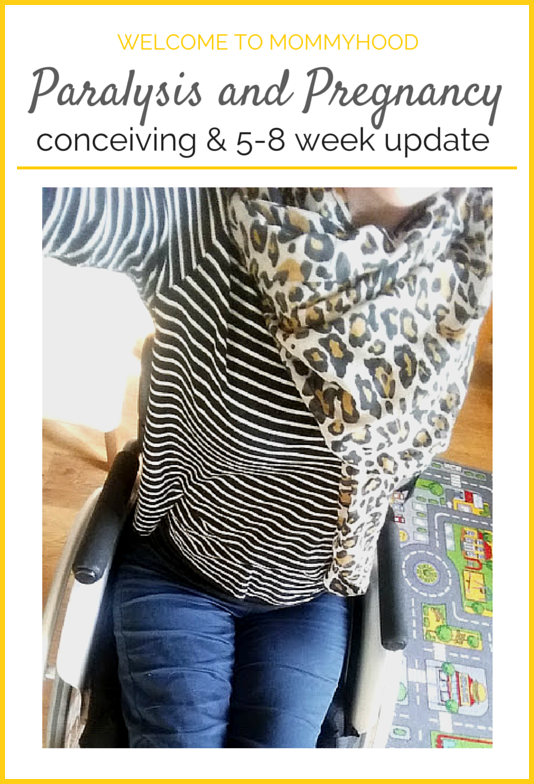 Paralysis and Pregnancy: How we conceived & 5-8 Week pregnancy update by Welcome to Mommyhood #paralysis, #paraplegic, #pregnancy