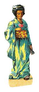 kimono fashion japanese illustration women vintage download
